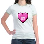 I Love My Teacup Poodle Jr. Ringer T-Shirt
