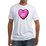 I Love My Teacup Poodle Fitted T-Shirt