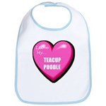 I Love My Teacup Poodle Bib