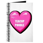 I Love My Teacup Poodle Journal