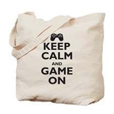 Keep Calm and Game On (parody Tote Bag