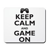 Keep Calm and Game On (parody Mousepad
