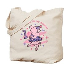 Tutu Piggy 1st Birthday Tote Bag