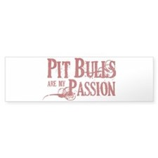 Pit Bull Passion Bumper Sticker