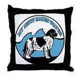 Newfy waves Throw Pillow