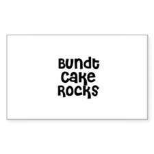 Bundt Cake Rocks Rectangle Decal