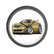 Crossfire Gold Convertible Wall Clock