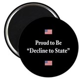 "Decline to State 2.25"" Magnet (100 pack)"