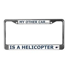 Helicopter License Plate Frame