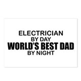 World's Best Dad - Electrician Postcards (Package
