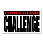 Threesome Rectangle Sticker