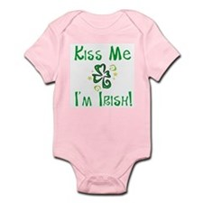Kiss Me, I'm Irish Whimsical Shamrock Infant Creep