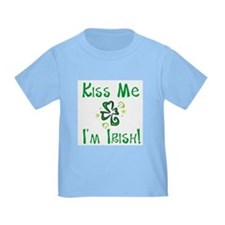 Kiss Me I'm Irish Whimsical Shamrock Toddler Tee