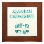 Marine Biologist Humor Framed Tile