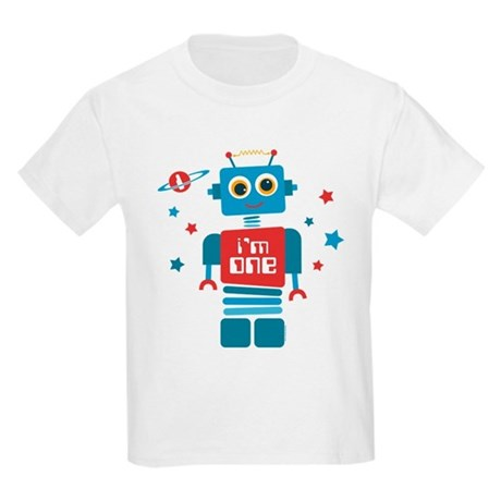 Robot 1st Birthday Kids Light T-Shirt