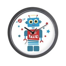 Robot 2nd Birthday Wall Clock