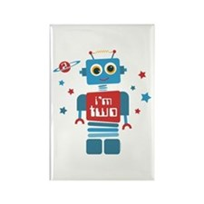 Robot 2nd Birthday Rectangle Magnet