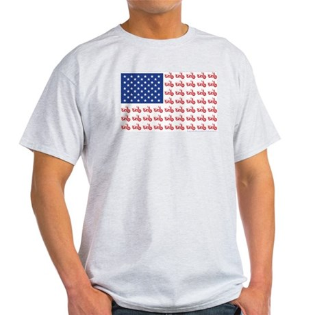 Old Time Motorcycle Flag Light T-Shirt