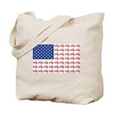 Old Time Motorcycle Flag Tote Bag
