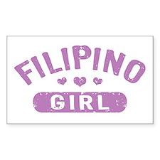 Filipino Girl Decal