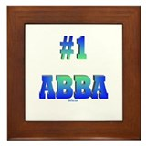 #1 Abba Father's Day Framed Tile