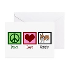 Peace Love Corgis Greeting Cards (Pk of 10)