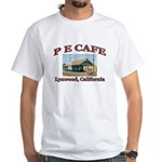P E Cafe White T-Shirt