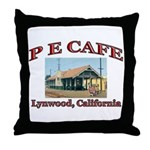 P E Cafe Throw Pillow