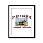 P E Cafe Framed Panel Print