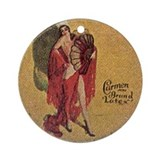 Vintage Condom Tin Rubber Ornament (Round)