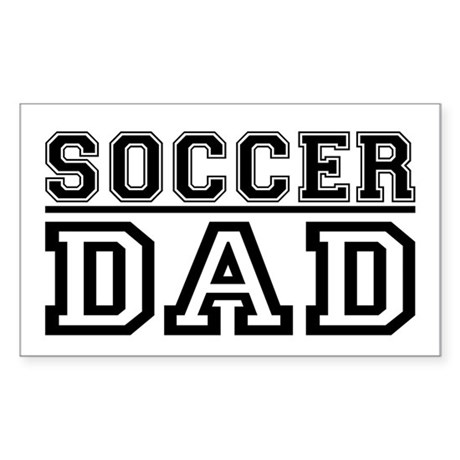 Soccer Dad 2 Rectangle Sticker
