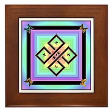 Butterfly Fantasy Framed Tile