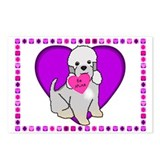 Dandie Dinmont Postcard Valentines (Package of 8)