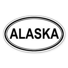 Euro Alaska Oval Decal