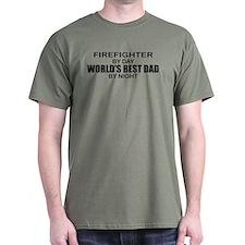 World's Best Dad - Firefighter T-Shirt