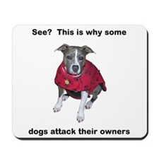 Why Dogs Attack Dog Mousepad