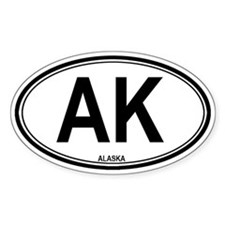AK - Alaska Oval Decal