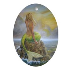 Mermaid Ornament (Oval)