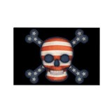 Pirate Patriot Rectangle Magnet (100 pack)