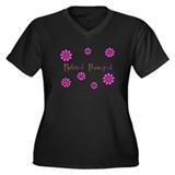 Retired Teacher II Women's Plus Size V-Neck Dark T
