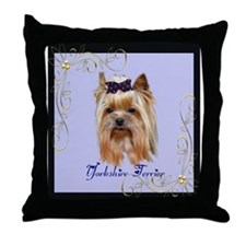Yorkshire Terrier Gifts Throw Pillow