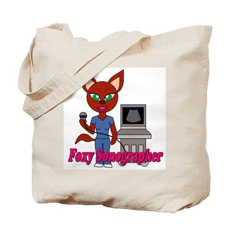 """Foxy Sonographer"" Tote Bag"