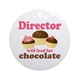 Music Director Chocolate Ornament (Round)