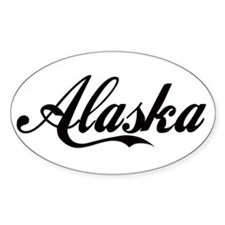 Alaska Design Oval Decal