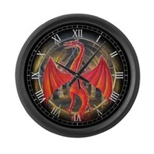 Red Dragon Large Wall Clock