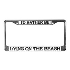Rather be on the beach License Plate Frame