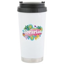 Retro Burst Librarian Travel Mug