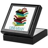 Book Stack Librarian Keepsake Box
