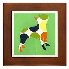 French bulldog terrier Framed Tile