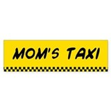 Mom's Taxi Bumper Car Sticker